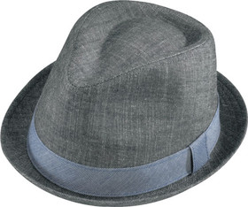 Henschel - Denim Stingy Brim Fedora Hat Black