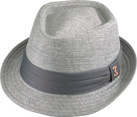 Who Ced - Delmar Grey Diamond Crown Fedora