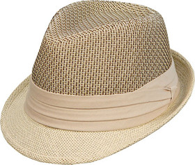 Kenny K - Two Tone Toyo Fedora Hat