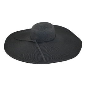 "Jeanne Simmons - Black 8"" Brim Sun Hat"