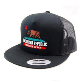 Hats Unlimited - Black Ventura California Trucker Snapback
