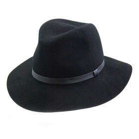 Jeanne Simmons - Black Outback Floppy Hat