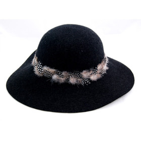 Delux - Modena Black Felt Hat Main