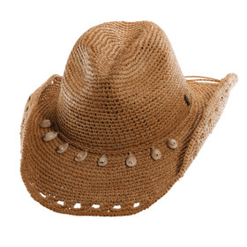 Tommy Bahama - Crocheted Raffia Cowboy Hat