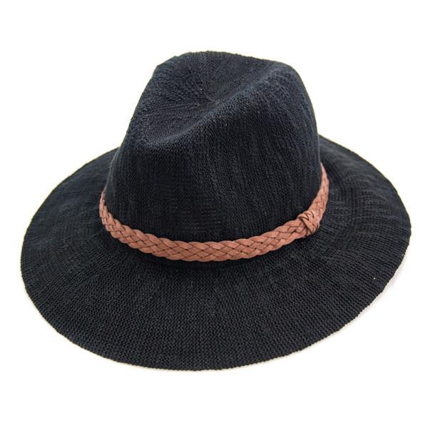 San Diego Hat Company - Black Knit Fedora