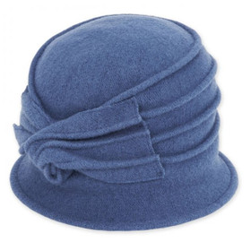 Adora - Blue Idona Soft Wool Cloche Hat