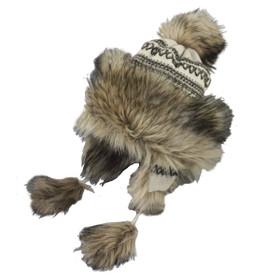 Jeanne Simmons - Beige Crochet Trapper Hat