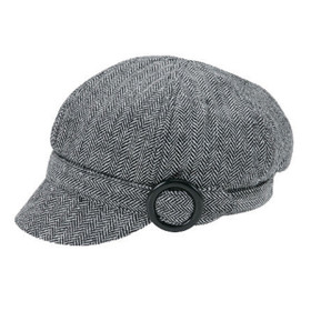 Jeanne Simmons - Black Muffy Wool Cap