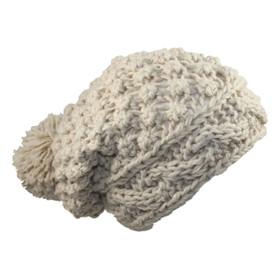 Jeanne Simmons - Beige Acrylic Knit Cap