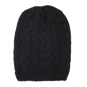 Jeanne Simmons - Black Knit Beanie Cap