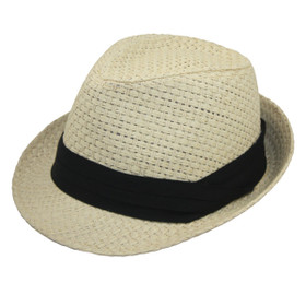 Jeanne Simmons - Ivory Unisex Toyo Fedora Hat