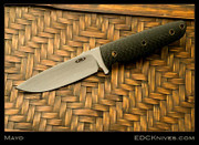 Tom Mayo - Belt Knife - Carbon Fiber