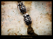 Steel Flame - Grenade Bead