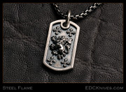 Steel Flame - Crusader Lion Dog Tag