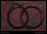Steel Flame - Necklace - Black Rubber Cord