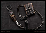 Steel Flame - Zippo - Pile o&#039; Skulls