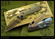 Mick Strider Custom - SMF - Brown Damascus Dagger - CC