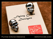 Skull - Flying Crane - Sterling Silver