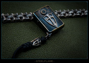 Steel Flame - Custom Armored Zippo - Textured Crusader