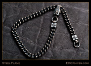 Steel Flame - Curb Chain w/Clasp