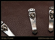 Steel Flame - Pocket Clip - Lion