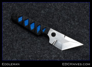 Eddleman - Tanto Dashi - Blue Ray, Satin/Polished