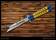 "29 Knives - 5"" WeeHawk Kampilan, Yellow w/Blue G10 - Latchless"