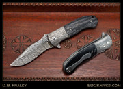 "Fraley - 3.5"" Deluge, Damascus, Carbon Fiber"