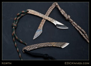 "Korth All Titanium Kiridashi - Bronze Leopard - 1/8"" stock"
