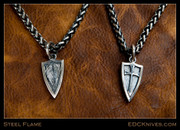 Steel Flame - Crusader Wings Pendant