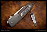 Steel Flame - Pocket Clip - Bushido, Stamped