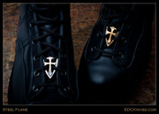 Steel Flame - Boot Bead - Crusader Cross