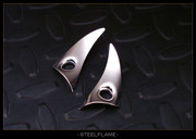 Steel Flame - Silver KillboX Earrings