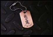 Steel Flame - Bushido Copper Tag, Personalized
