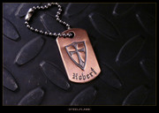 Steel Flame - Crusader Copper Tag, Personalized