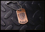 Steel Flame - Crusader Lion Copper Tag, Personalized