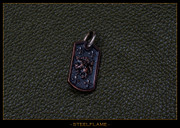 Steel Flame - Crusader Lion Dog Tag, Copper