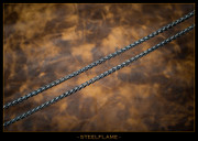 Steel Flame - Necklace - Talon 6.5mm, 24""