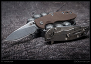 "Hinderer - XM-18, 3.5"" Slicer, Flipper, Brown"