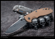 "Hinderer - XM-18, 3.5"" Slicer, Flipper, Brown G10, Team Killbox"