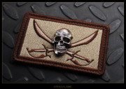Steel Flame - Patch, Royal Bronze Darkness, Jolly Roger