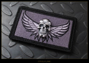 Steel Flame - Patch, Silver Darkness, Wings