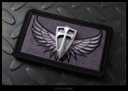 Steel Flame - Patch, Silver Crusader, Wings
