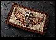 Steel Flame - Patch, Royal Bronze Crusader, Wings