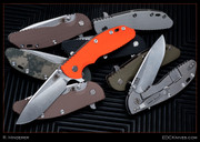 "Hinderer - XM-18 - 3"" Flipper, Slicer, Orange Scale, Gen3"