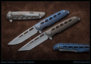 Brian Nadeau, Typhoon, Bead Blasted Frame, Tanto