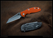 "Hinderer - XM-18 - 3"" Flipper, Wharncliff, Orange"