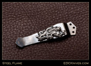 Steel Flame  Pocket Clip, Dragon