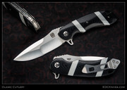 Olamic Cutlery,  Wayfarer, Black w/White CTek Stripes