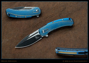 Begg Knives, Mini Bodega, Blue and Gold